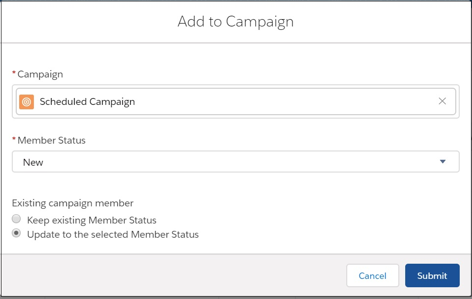 Predictive Help Center » Add Campaign Members in Lightning